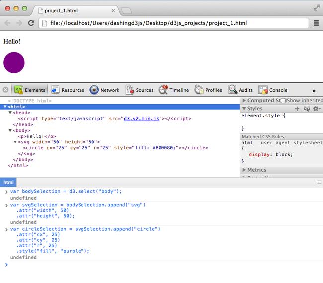 Adding an SVG Element | DashingD3js com