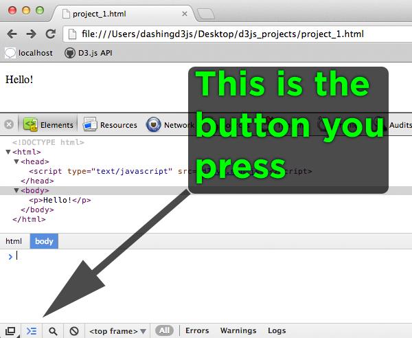 JavaScript Console for D3.js
